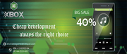 We are offering the cheapest mobile app development at 40% discount this week.